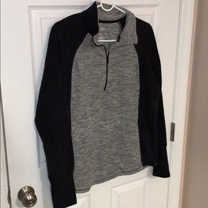 St Johns Bay Black Gray Half Zip Fleece